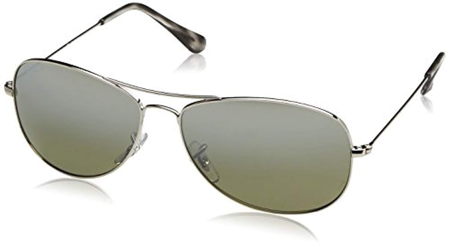 07512a4ac7 Lyst - Ray-Ban Rb3562 Chromance Lens Pilot Sunglasses in Metallic ...