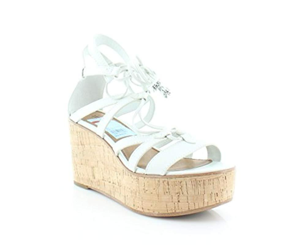 f09a5ce3e35fc Lyst - Frye Heather Gladiator Wedge Sandal in White