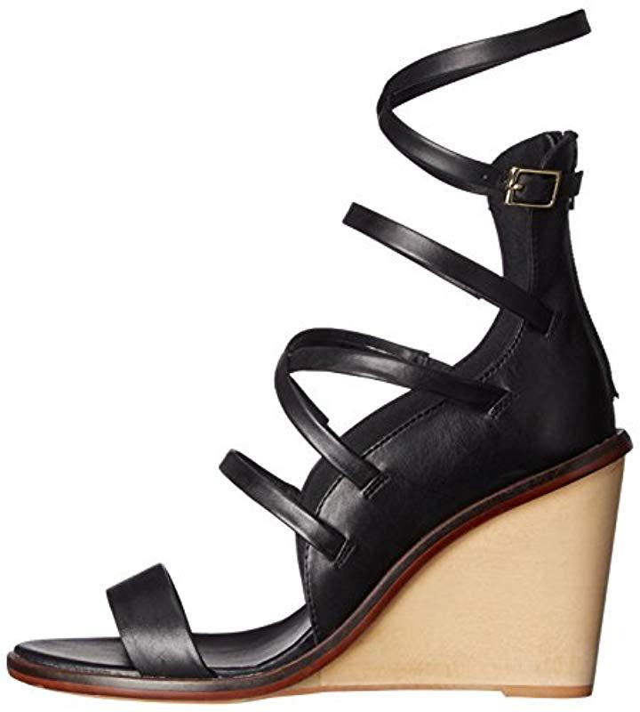 44f06ea60b2 Lyst - ALDO Russella Wedge Sandal in Black - Save 45%
