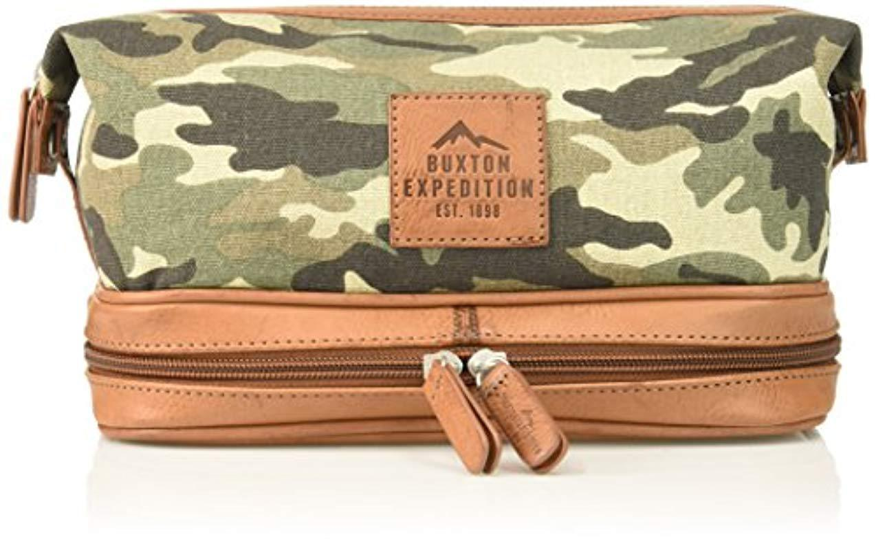 be096dc122 Lyst - Buxton Expedition Ii Huntington Gear Bottom Zip Canvas Travel ...