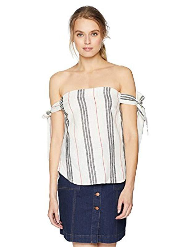 f8f7af6e91336 Lyst - BCBGeneration Tie Sleeve Tube Top in Natural