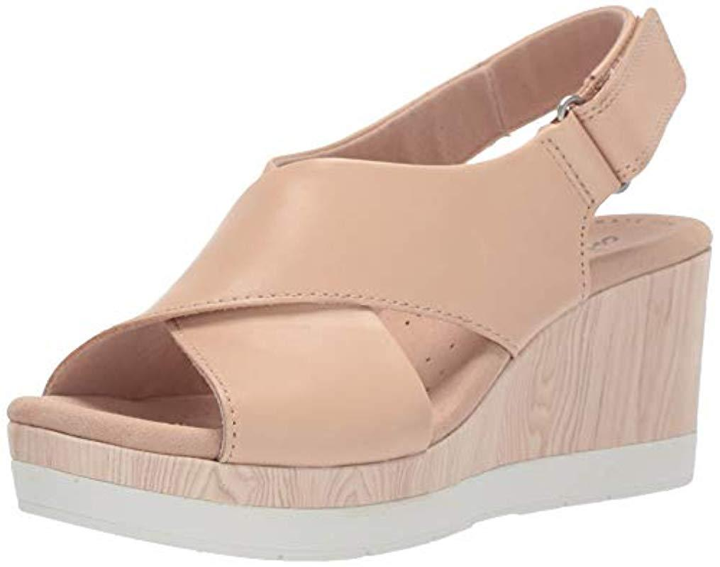 4d3df96fe Clarks. Women s Cammy Pearl Wedge Sandal