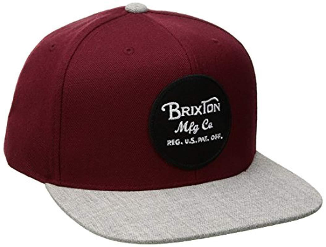 0a9f21b46c4 Brixton - Multicolor Wheeler Medium Profile Adjustable Snapback Hat for Men  - Lyst. View fullscreen