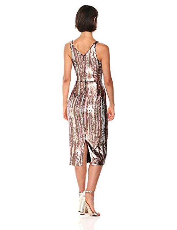 Lyst - Dress the Population Margo Sleeveless Sequin Stretch Midi Dress f122c73b2