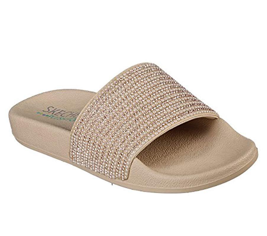 001d75de900768 Skechers. Women s Pop Ups-halo Power-rhinestone And Pearl Shower Slide  Sandal