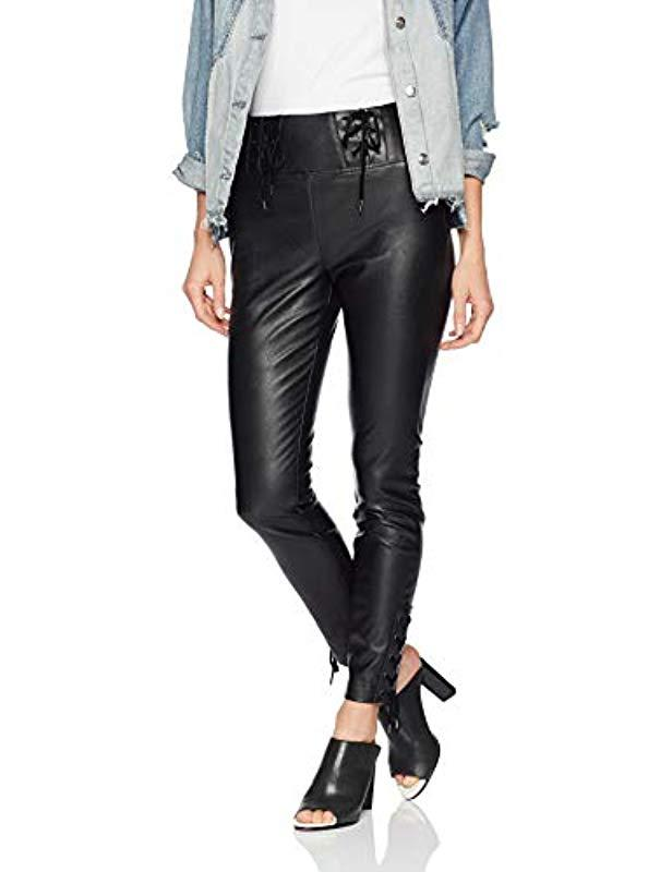 07d4057786565 Guess Envy Lace Up Pu Pants in Black - Save 49% - Lyst