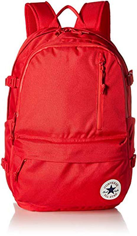 63eabd3fa2b8 Lyst - Converse Straight Edge Backpack Backpack in Red