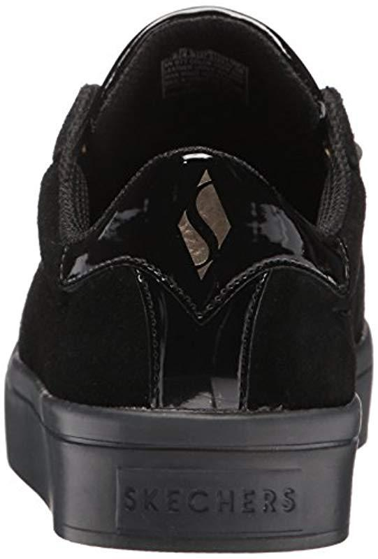7d1292cea4e4 Skechers - Black Hi-lite-suede Satin Sneaker - Lyst. View fullscreen