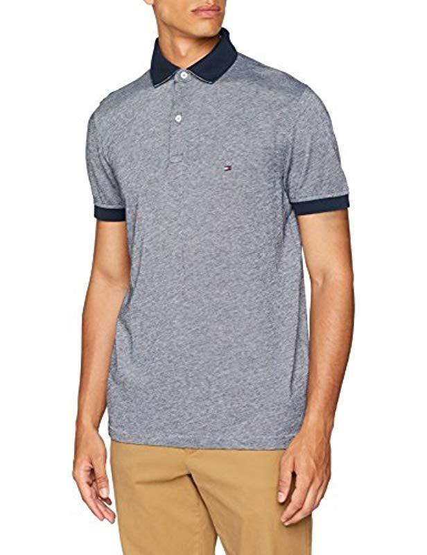 a86661e3e318ff Tommy Hilfiger Printed Undercollar Regular Polo Shirt Blue in Blue ...