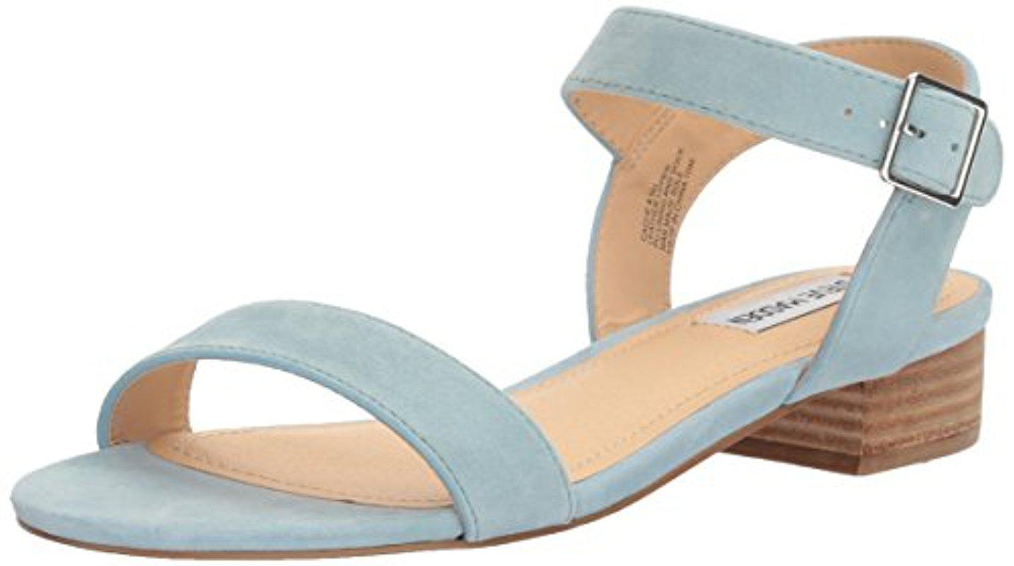 ca6867827ad1 Steve Madden Cache Flat Sandal in Blue - Lyst
