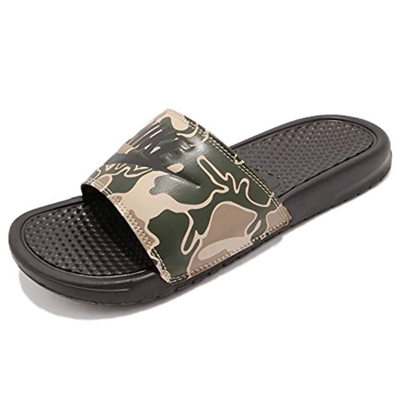 e3264b75f0499e Nike Benassi Jdi Print Fitness Shoes in Brown for Men - Lyst