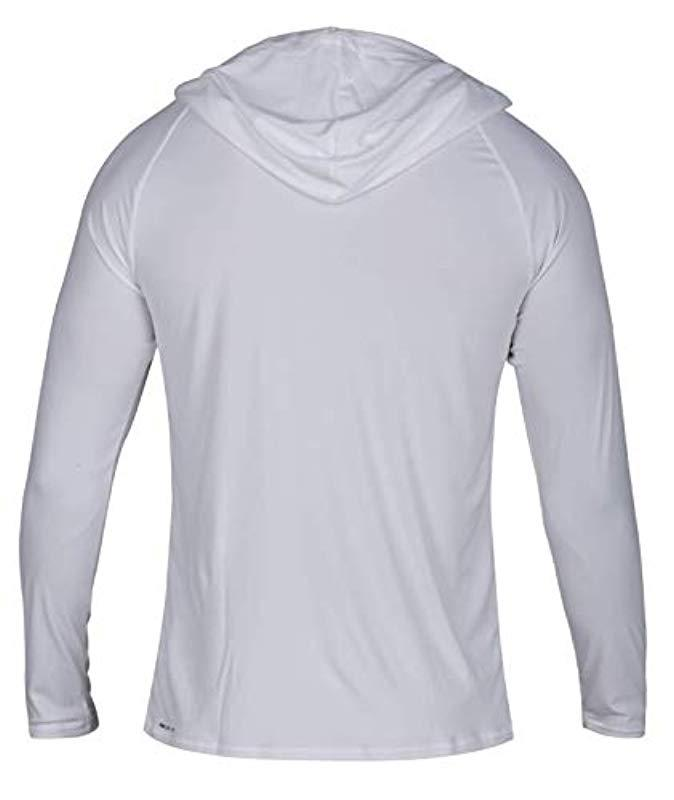 28ee6c2e7cf554 Lyst - Hurley Nike Dri-fit Long Sleeve Sun Protection +50 Upf Rashguard in  White for Men