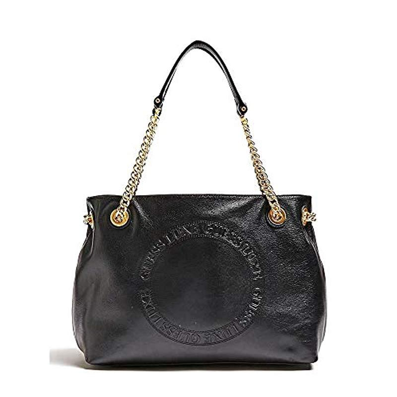 0ddcec36ef89 Guess  s Solange Hobo Shoulder Bag in Black - Lyst