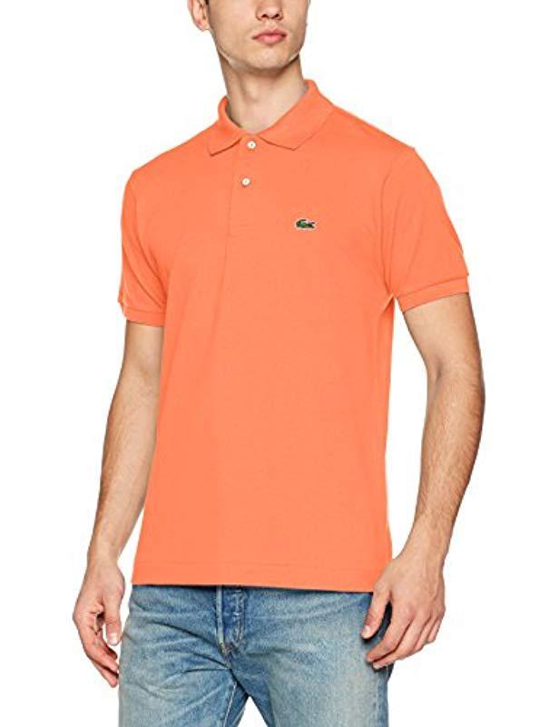 c770719e6 Lacoste Polo Shirt in Orange for Men - Lyst