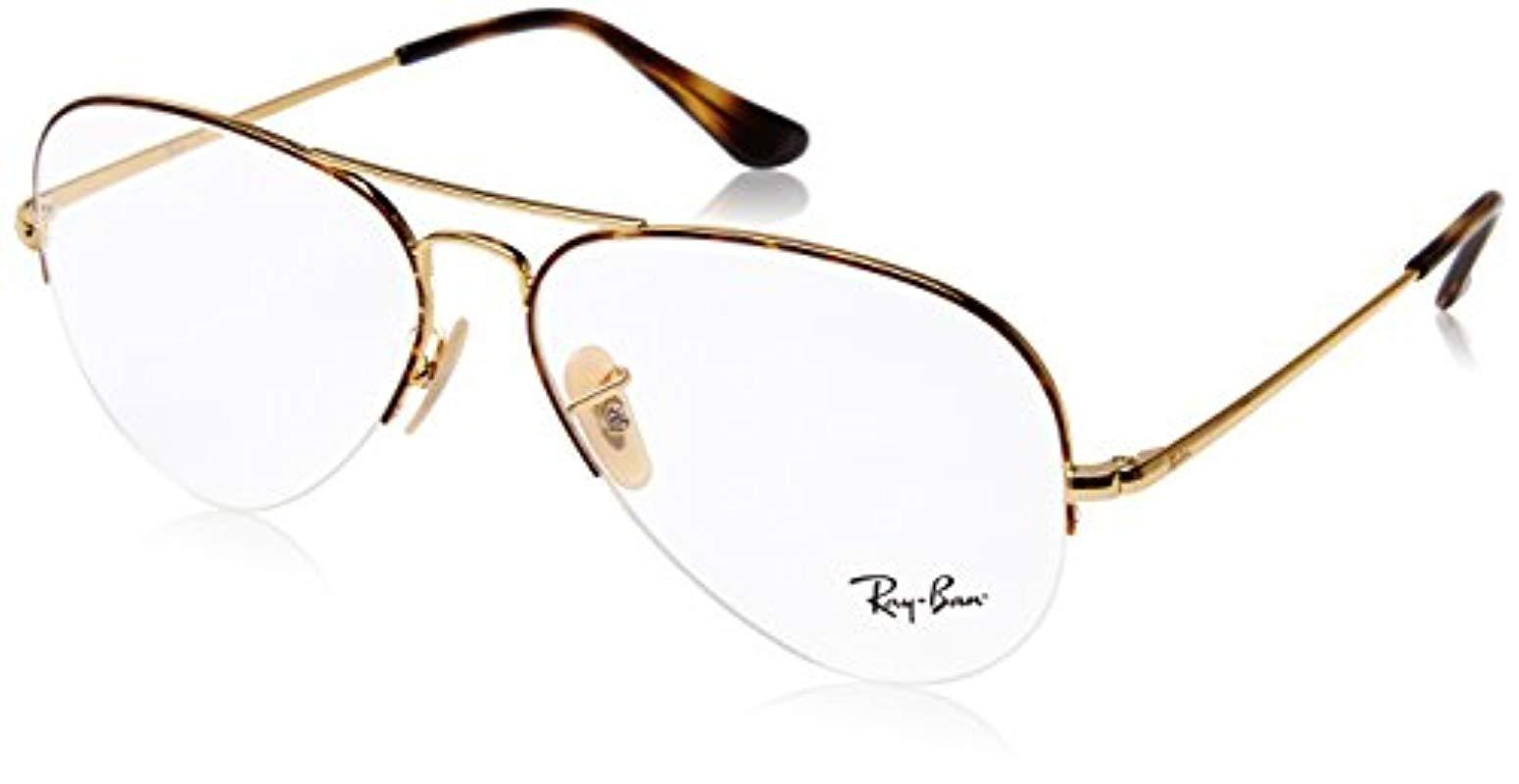 34688a38c8407 Ray-Ban Rx6589 Glasses In Gold Rx6589 2500 56 in Metallic for Men ...