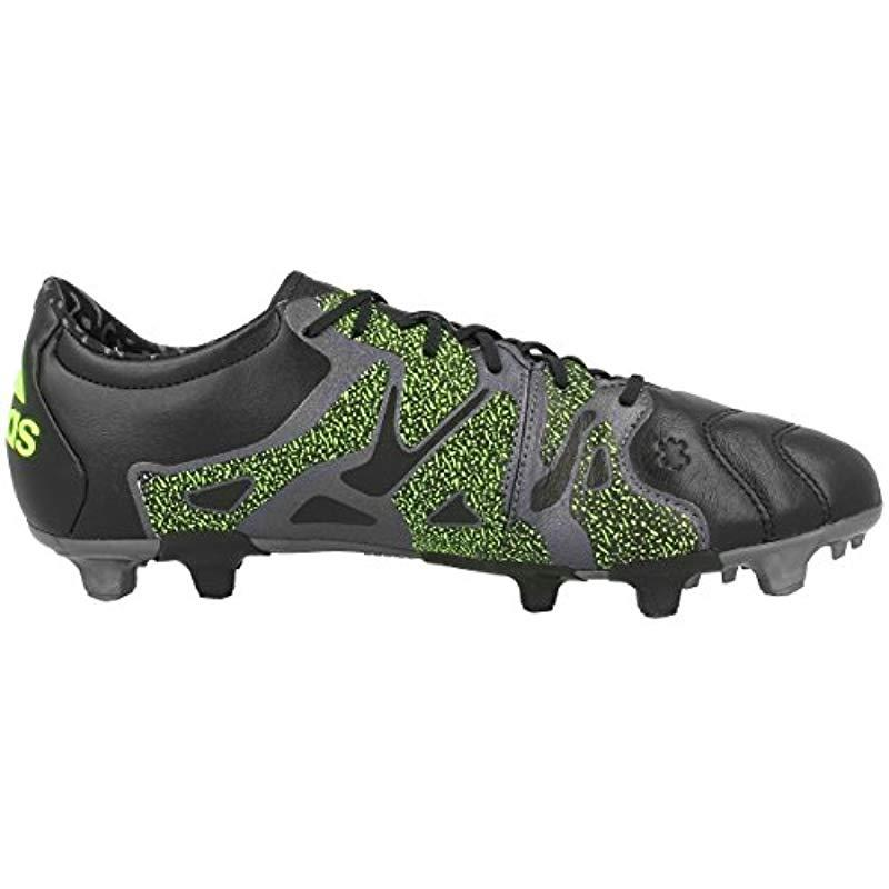 super cute 78a80 505e2 Adidas - Green  s X 15.2 Fg ag Leather Football Boots for Men -. View  fullscreen