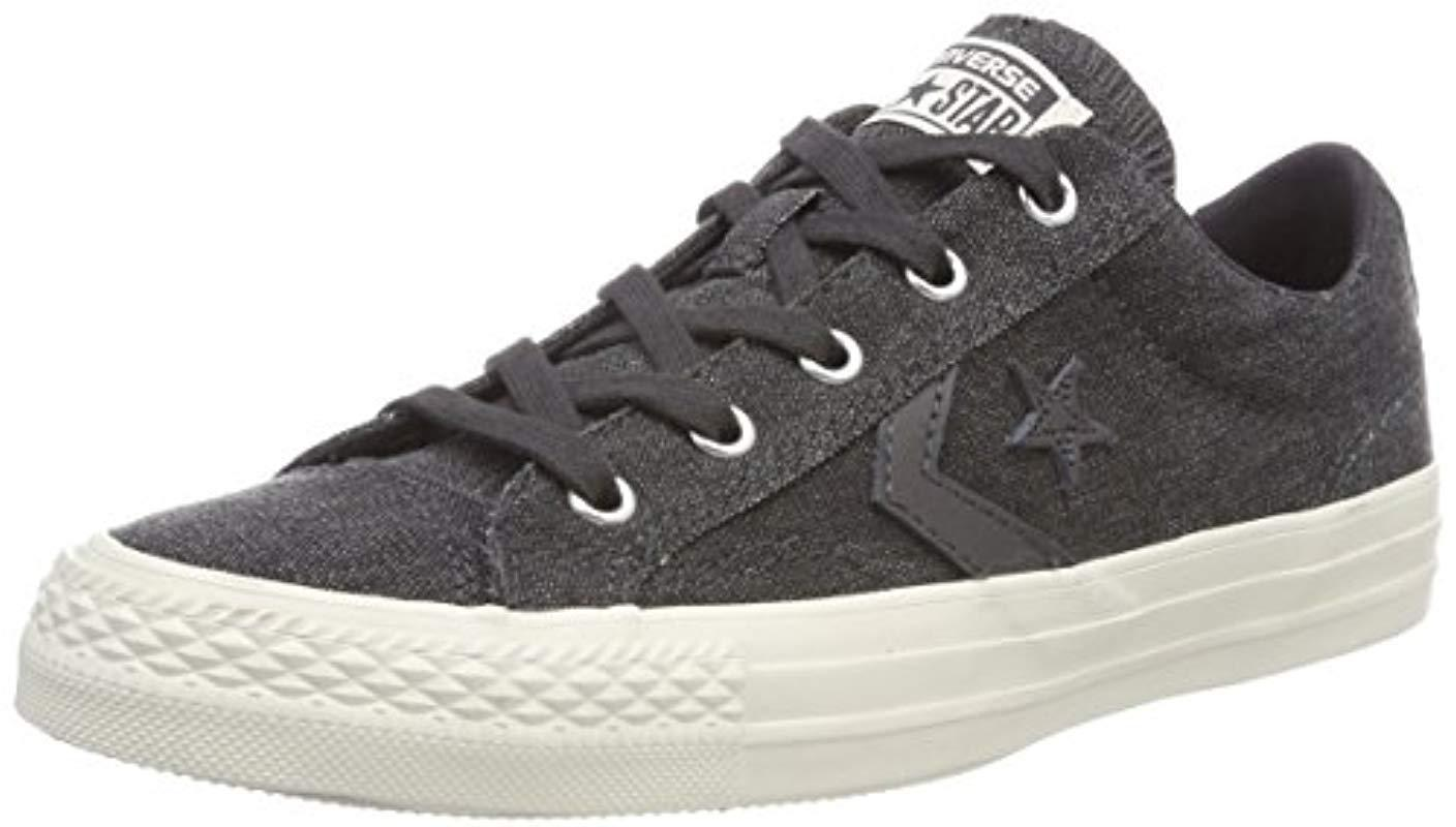 cabe655d41 Converse Unisex Adults  Star Player Ox Almost Black Fitness Shoes in ...