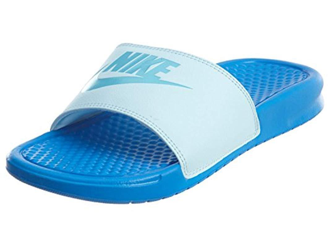 5f6845068b3c Lyst - Nike Benassi Just Do It Walking Shoe in Blue for Men