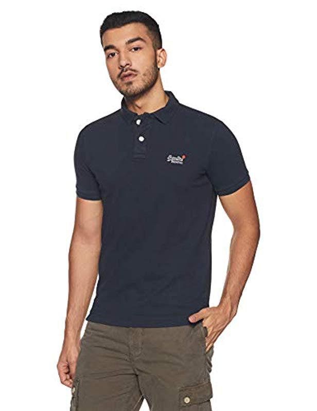 4ca48ddb2f78 Superdry Classic S s Pique Polo Shirt in Blue for Men - Lyst