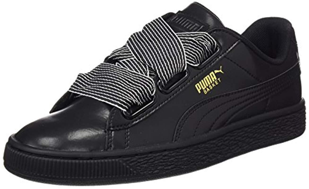 Puma Basket Heart Wn Sneaker in Black - Lyst 24ba1b246