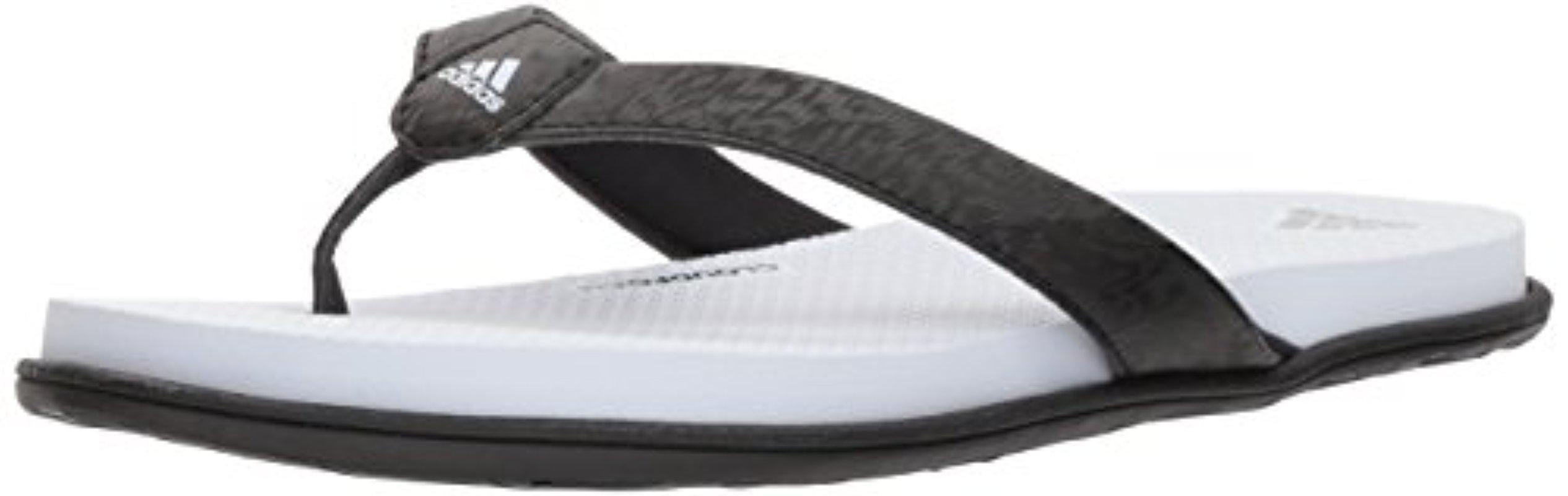 c8a2463268 adidas Cloudfoam One Y W Flip-flop in Black - Lyst