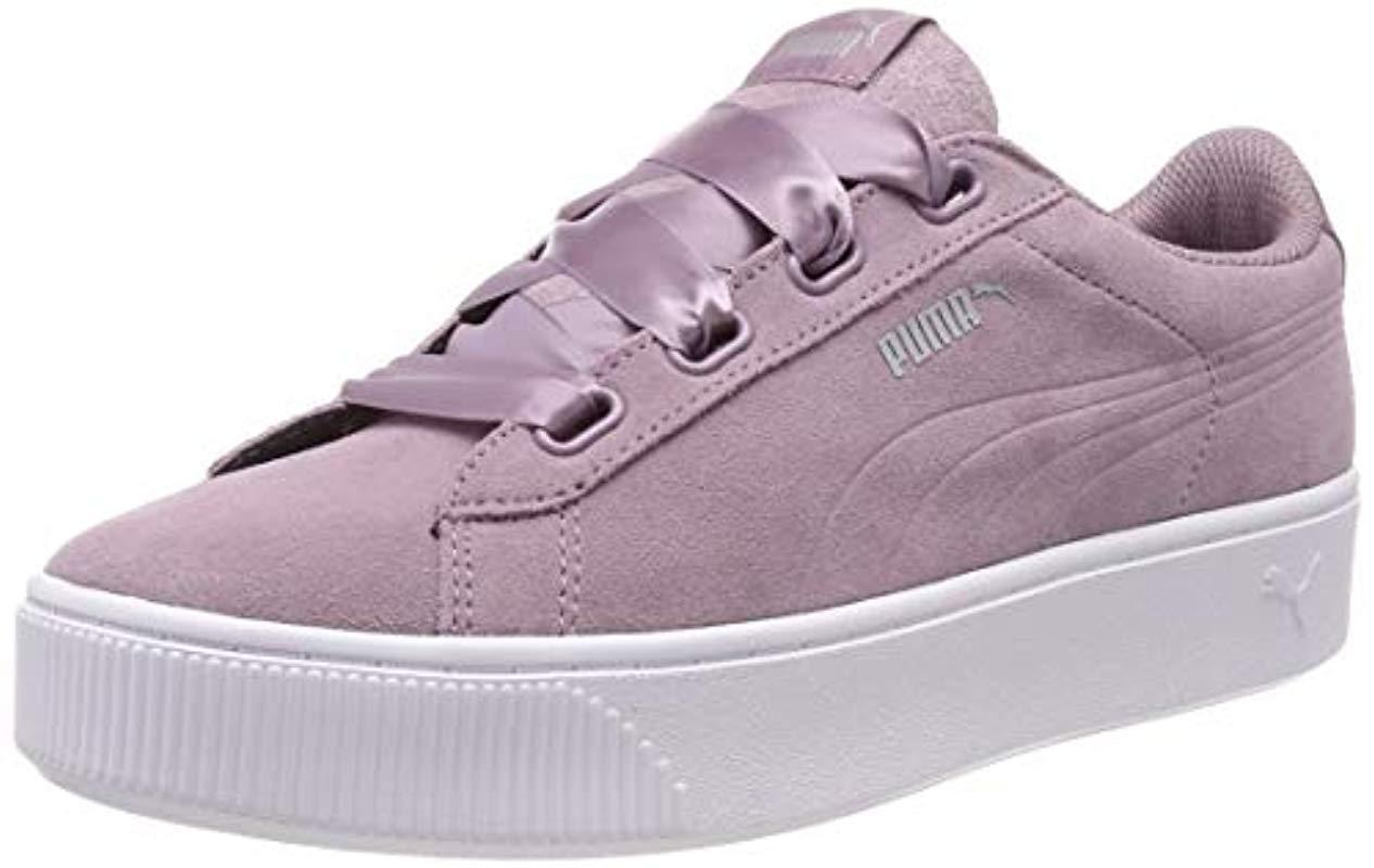 PUMA Vikky Stacked Ribbon S Low-top Sneakers in Purple - Lyst f6174f7d7f