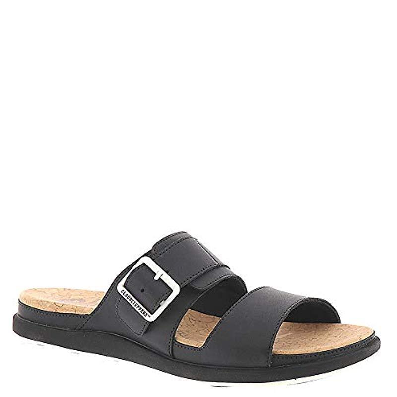 e02796fe959b Lyst - Clarks Step June Tide Sandal in Black