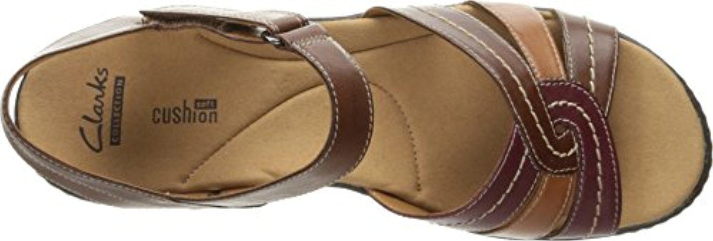 60643d290ac08b Lyst - Clarks Delana Varro Dress Sandal in Brown