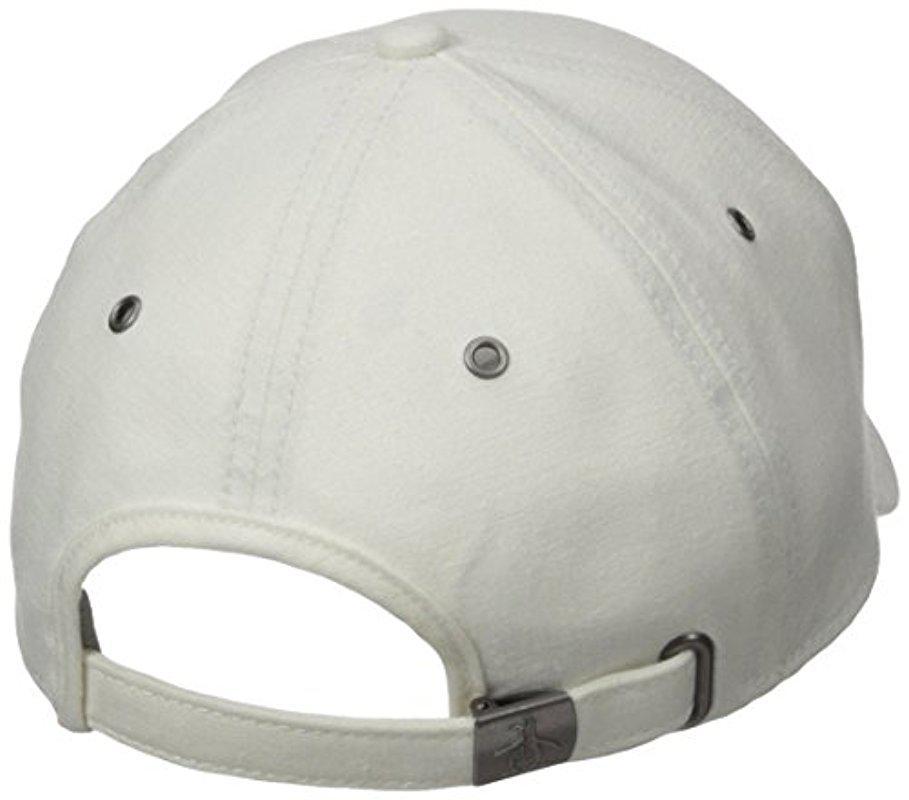 90a1d9d0f1b Lyst - Original Penguin Linen Baseball Cap in White for Men