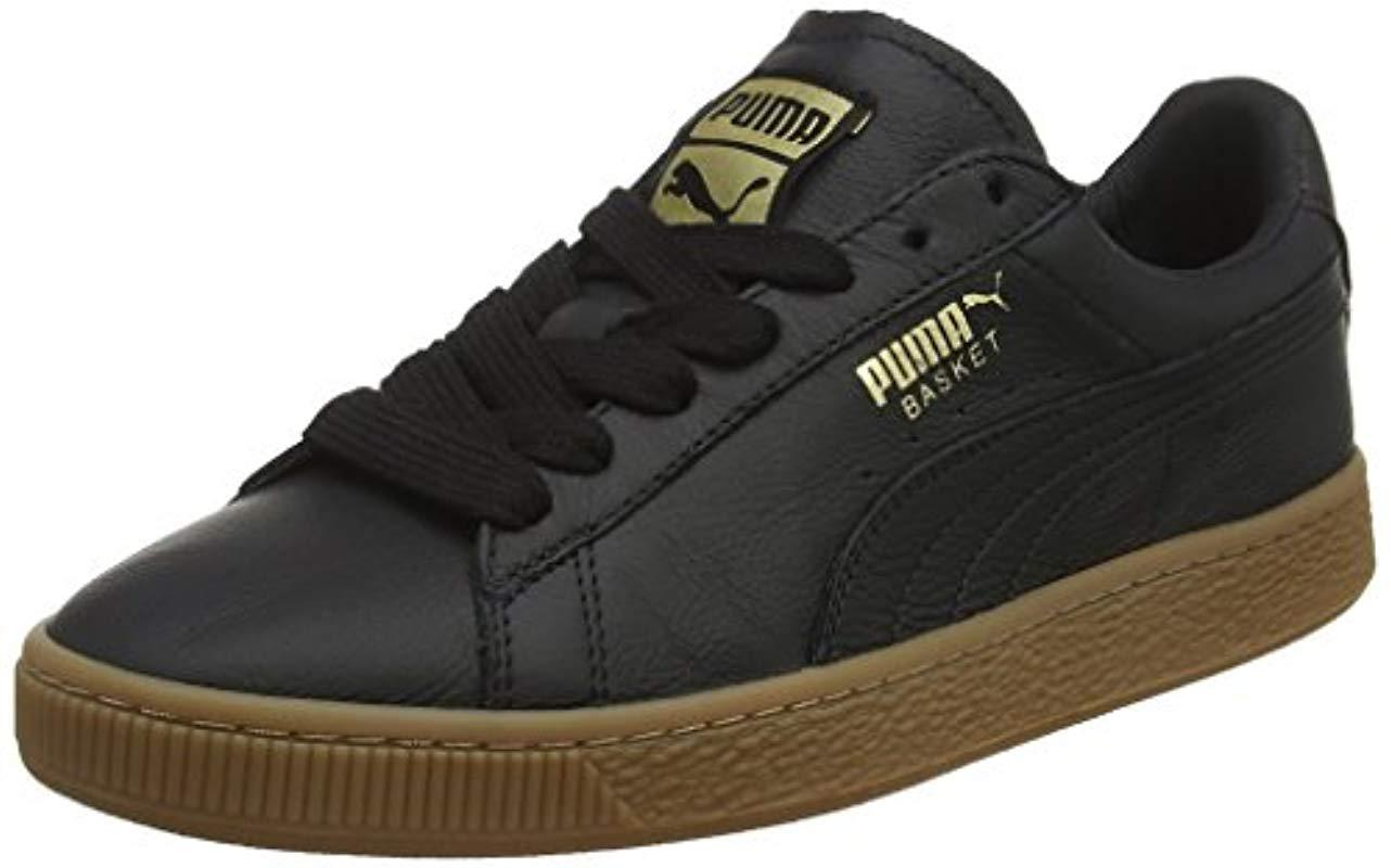 071666e335c102 PUMA Unisex Adults  Basket Classic Gum Deluxe Low-top Sneakers in ...