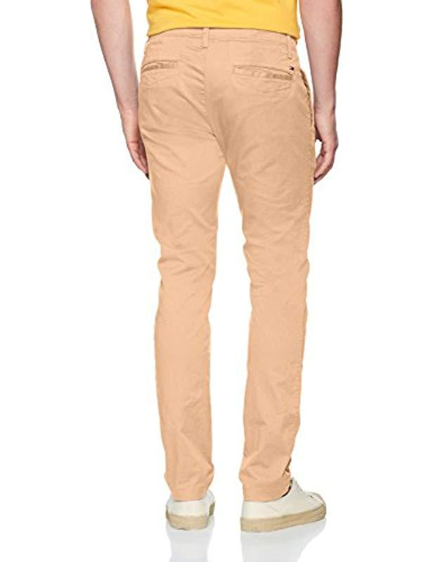 3248473a8 Tommy Hilfiger Basic Slim Ferry Chino Trouser in Natural for Men - Lyst
