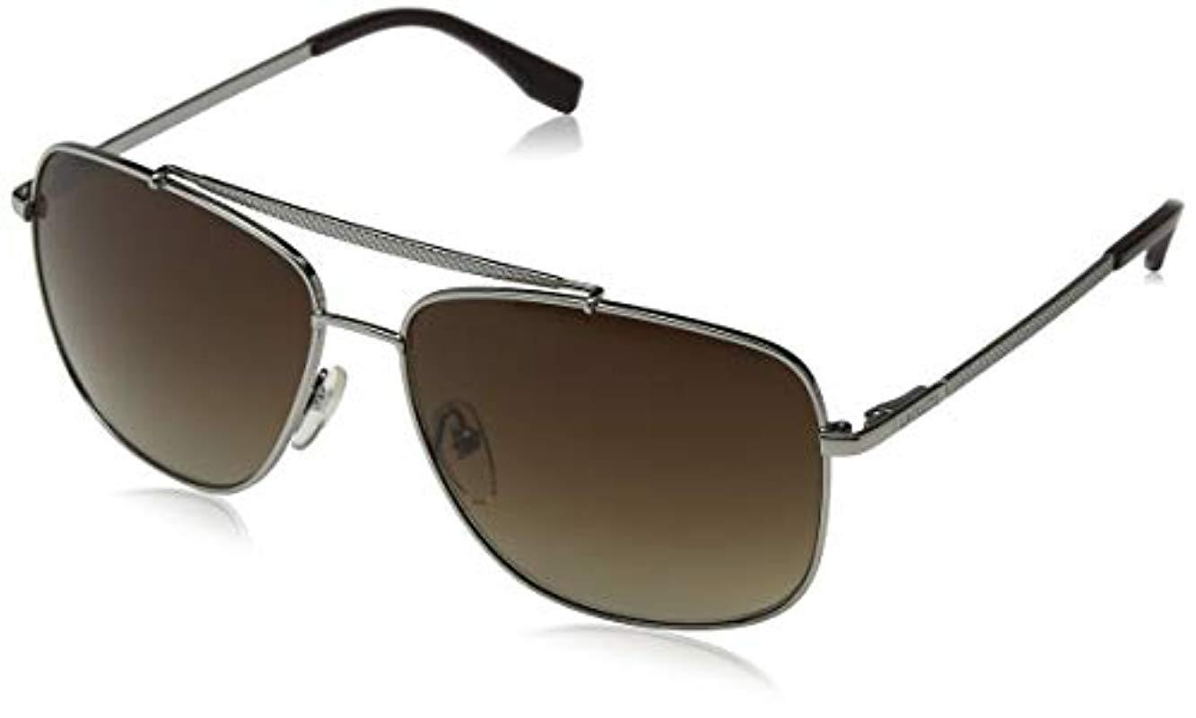 c098a48a53e Lacoste. Men s Metallic L188s L188s 714 59 Rectangular Sunglasses ...