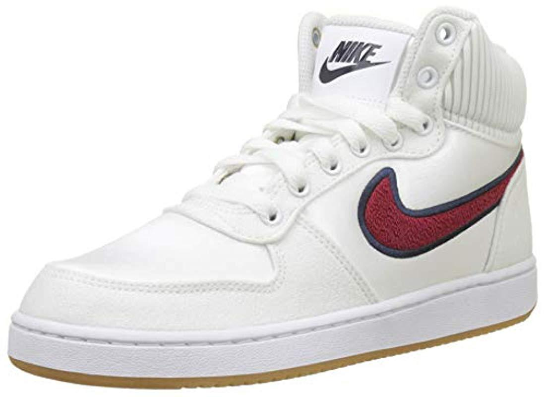 ed32ca2e9c7fb8 Nike Ebernon Mid Prem Basketball Shoes in White - Save 40% - Lyst
