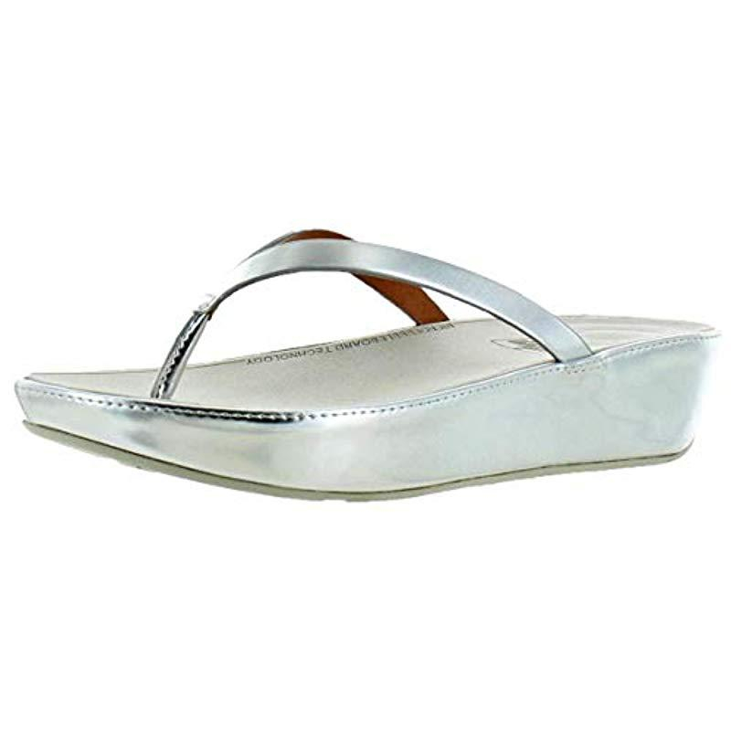 3b1ab3d50b3d Fitflop. Women s Linny Toe-thong Sandals-leather Wedge