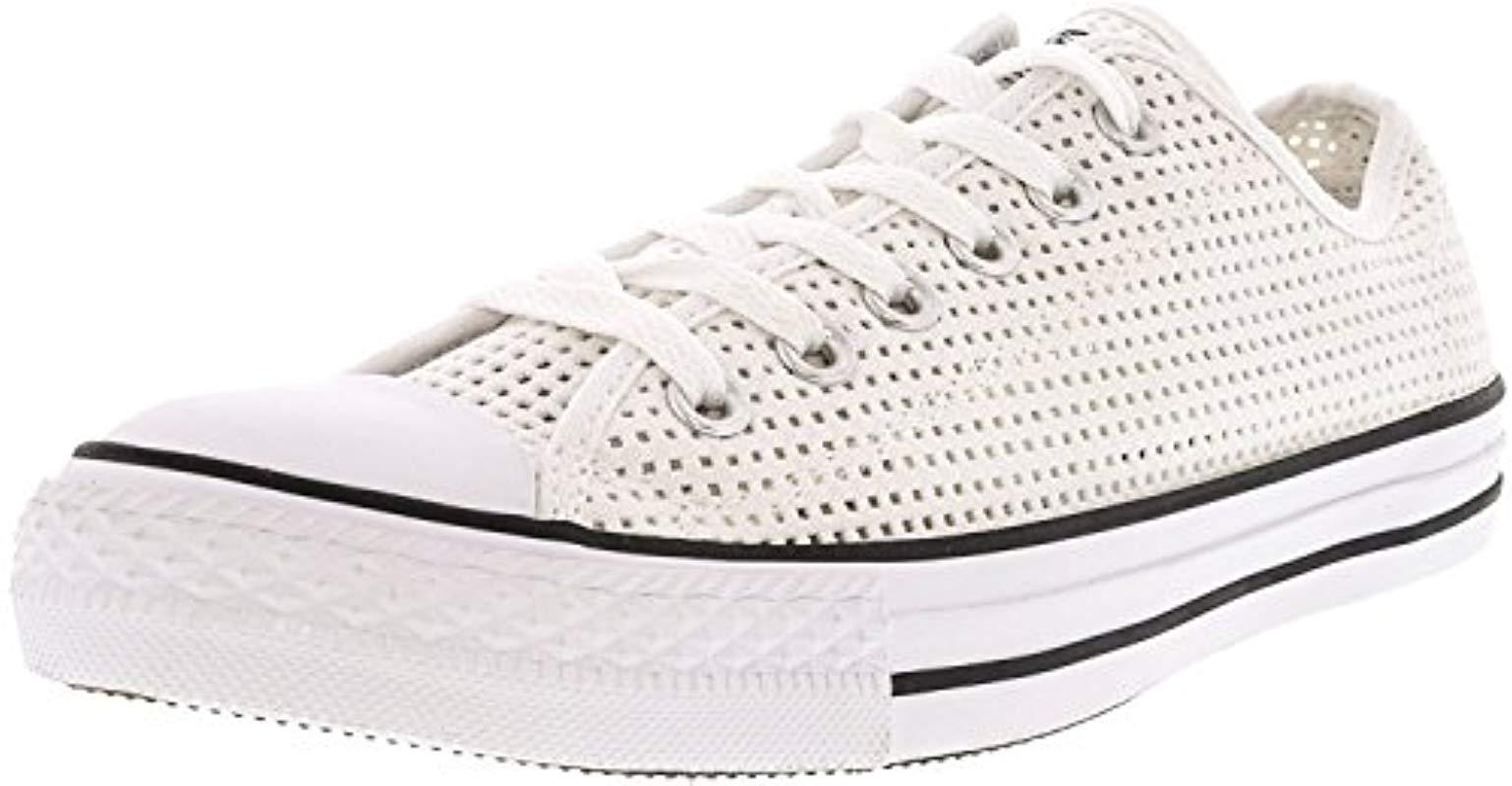 d88f5c81bf1a Lyst - Converse Chuck Taylor All Star Leather Low Top Sneaker