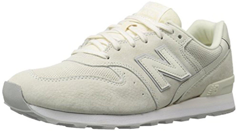 new balance 696 leather & jacquard sneaker beige