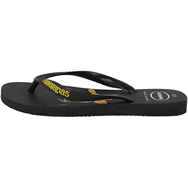 177a37610a7a05 Havaianas - Black Unisex Adults Looney Tunes Flip Flops for Men - Lyst.  View fullscreen