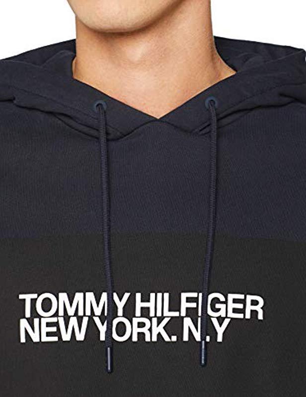 9cf05a7b0ab87 Tommy Hilfiger - Blue Big Scale Logo Hoody for Men - Lyst. View fullscreen