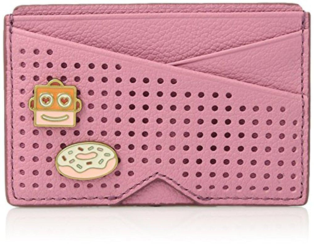 Lyst - Fossil Card Case Wallet Credit Card Holder in Pink