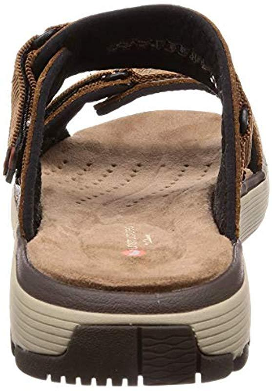 7464d1ad75b Clarks  s Un Trek Walk Sling Back Sandals in Brown for Men - Lyst