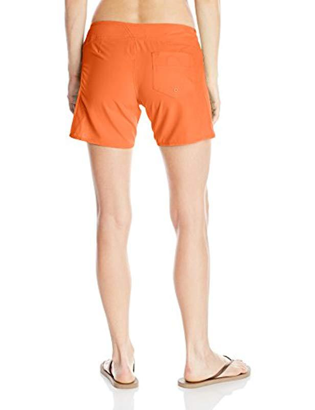 e2f8fe6ebe Lyst - Volcom Simply Solid 5 Inch Boardshort in Red