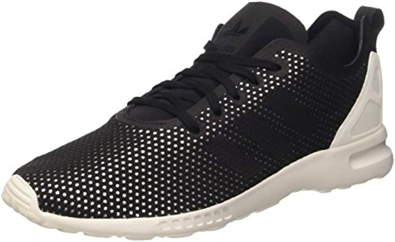 931a7bd5d adidas Zx Flux Adv Smooth Low-top Sneakers White in Black - Lyst