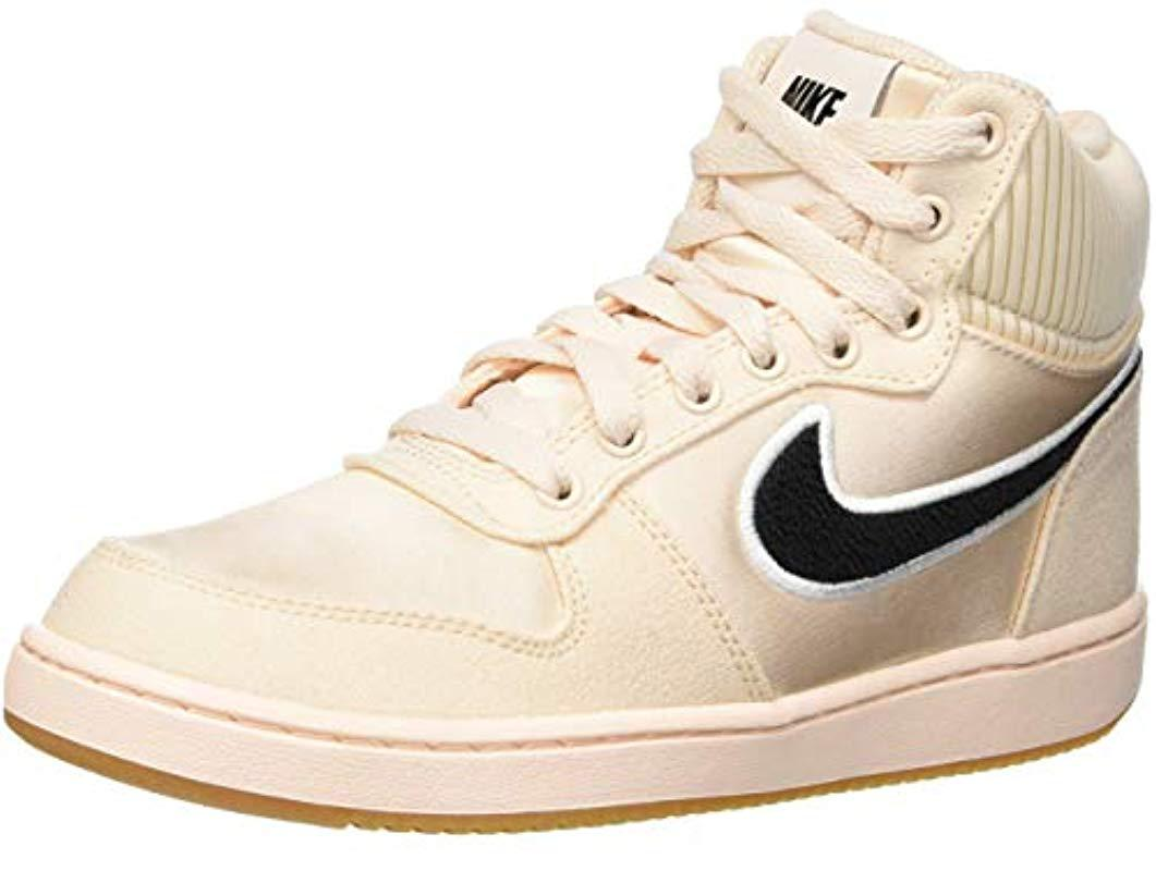 52a1ad03f23 Nike Ebernon Mid Prem Basketball Shoes in Natural - Lyst