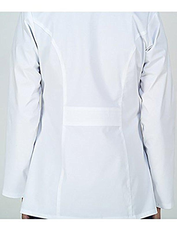 d48289d8c67 Dickies Scrubs 82408 Gen Flex Junior Fit Contrast Stitch Lab Coat in ...