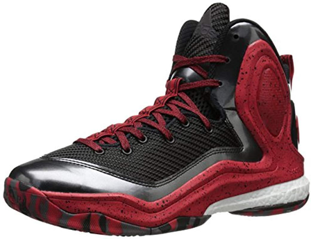 792253b5815f Lyst - Adidas Performance D Rose 5 Boost Basketball Shoe in Red for Men