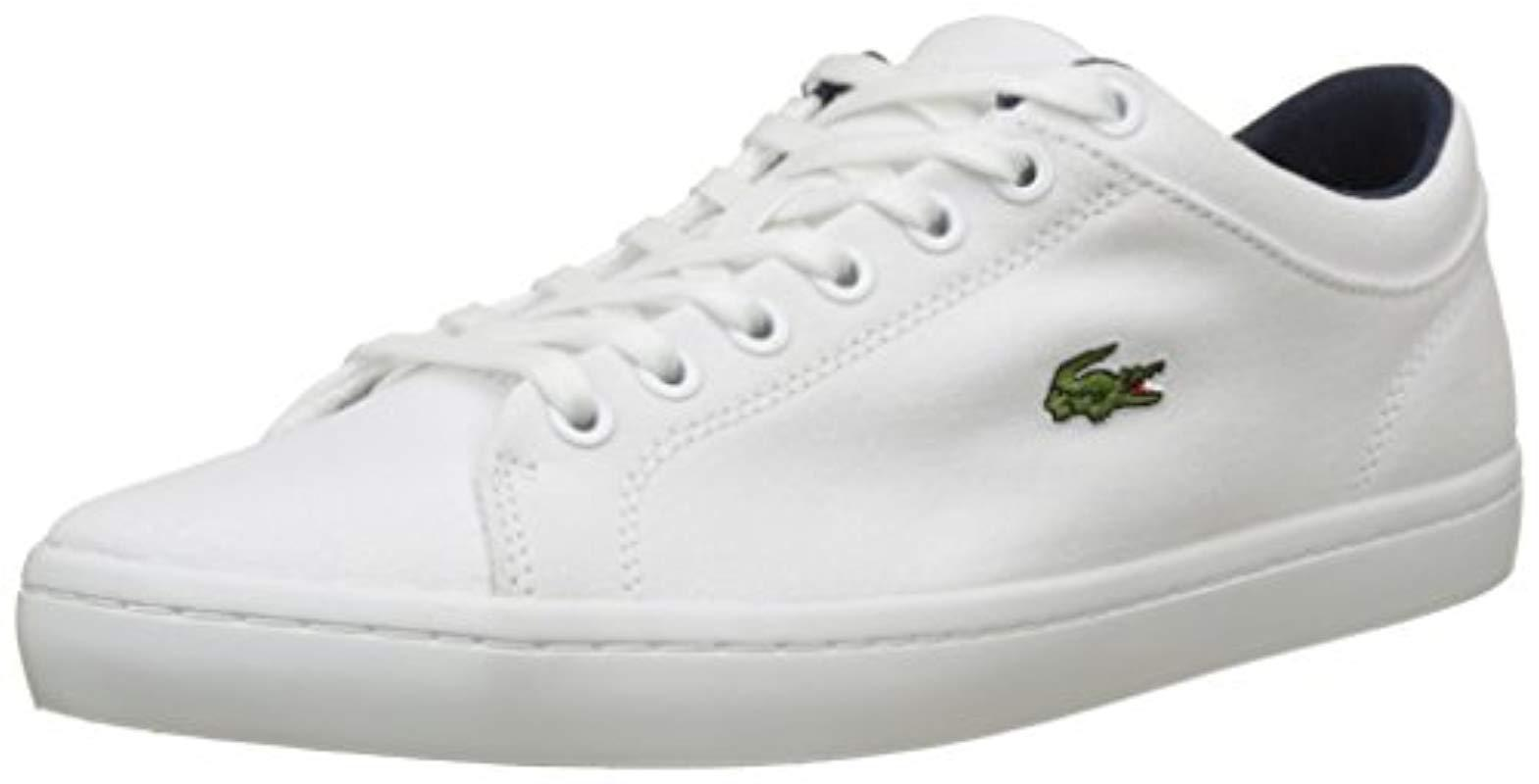 00213934e Lacoste Straightset Bl 2 Cam Trainers in White for Men - Lyst