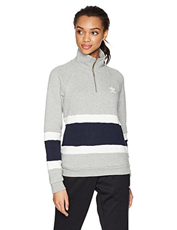lyst adidas originali halfzip maglione grigio