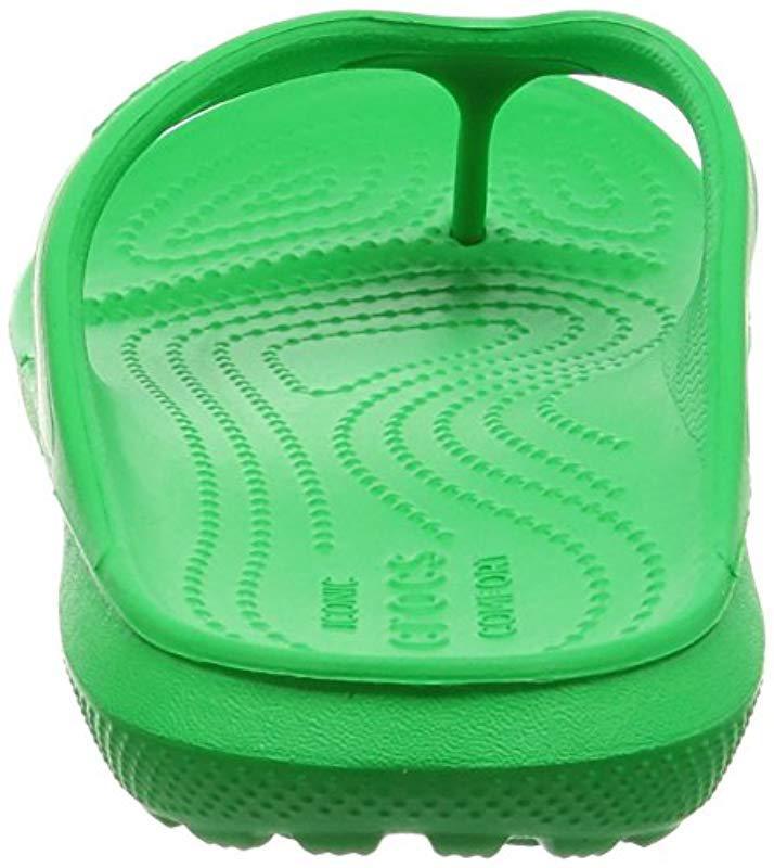 d05bcddc2 Crocs™ - Green Unisex Adults  Classic Flip Grssgrn Open Back Slippers -  Lyst. View fullscreen