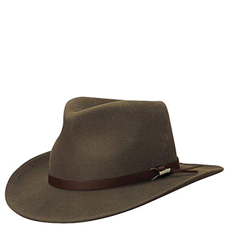 Lyst - Woolrich Crushed Felt Outback Hat in Brown for Men 3ce1aee57d49