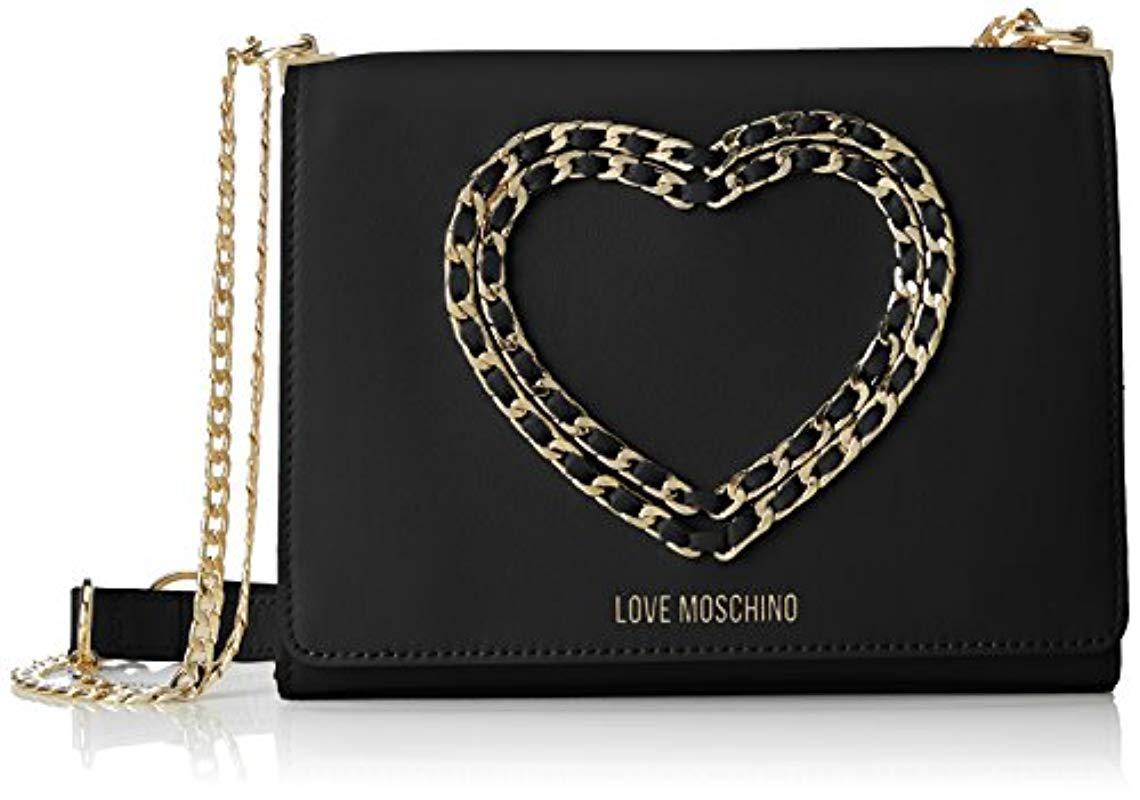 Love Moschino Borsa Vitello Bottalato Nero 6ad7bf5597e